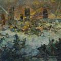 "Модоров Ф.А. ""Бой у элеватора. Город Калинин"". 1942 г. 40х60, х. м."