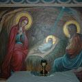 "Орехов А.В. ""Рождество Христово.""2012 Роспись алтаря храма.п. Мстёра."