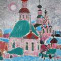 """Тимошкина Д.В. """"На Спасской.""""2010. Х.,м. 60х65"""