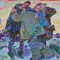 """Софронов В.Н. """"Рыбаки."""" 90х100,2009"""