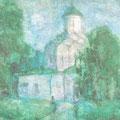 Княгинин монастырь.1993г.,бум.,акв.,пастель 54х70