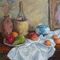 "Комаров А.А. ""Натюрморт с синей вазочкой"".2007,к.м.,50х60"