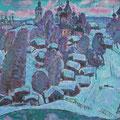 """Тимошкина Д.В. """"Вечереет."""" 2008. Х.,м. 70х90"""