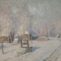 """Морозов А.В.""""Зима в деревне"""". Х.,м. 47х82,5.МИХМ"""