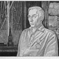 Шумов В.А. .Портрет Павлова 1985 офорт 32х49,5