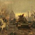 """Серов В.В.""""Победа. Этюд"""". 1945. Картон,м. 35х53,5. МИХМ"""