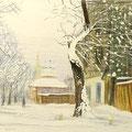 """Антонов В.М. """"Иней"""". 2001 г. Бум., цветной карандаш, 20х30"""