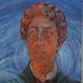 "Лёвин М.К. ""Портрет А.А. Блока!. 1975. Картон,м. 106х76. МИХМ"
