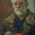 "Модоров Ф.А. ""Портрет А.П. Морозова, мстерского мастера"". 1941 г. 36х24,9, картон, масло."