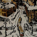 """Мымрина Е.В. """"УТРО"""".  2010 г.  Автоцинкография,  цветная печать.  23,5х18,5"""