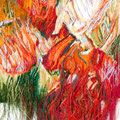 "Гобелен"" Огненная птица"" 2014г.,120х85 рафия, лён,вискоза, ручное ткачество"