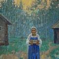 """Павлычев В.П. """"Голубинная книга."""" х.м., 75х170, 2010г."""