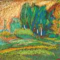 Рузин В.И. Август. 2006. Картон, цв. карандаш. 8х9