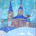 Сахарова Е.А. Благовещенье.2011г.медь.эмаль21х21