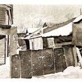 Чернышев В.В. .Дом № 50. из серии Владимирские дворики. 2007г. офорт, акватинта.