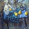 """Герасимов М.В. """"Натюрморт с белой вазой и грушами"""". 90х80., х.м., 2014г."""