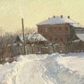 "Кочешков М.А. ""Зимнее солнце"". 2011  Б.темп. 46,5х73,5"