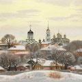 Егоров А.В Зима во Владимире. 2010. Бумага пастель. 42х59
