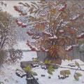 Юриков Н.А. Рябина. Первый снег. 2013 г. Х., м. 50х60