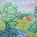 "Антонов В.М. ""Лето. Поповая гора"". 2009 г. Бум.,цв.кар., 40х57"