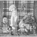 "Ткачёв Ю.К. ""Народная кукла"". 2012 офорт 50х70"