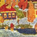 Юкин В.Я. .Ранний снег. Мстера.1968. х.м. 96х107