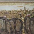 """Смыслова А.И. """"Осень в Муроме"""". 40х52 монотипия 2012 г."""