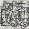 """Рыбаков В.Г.""""Солдаты свободы."""" гравюра на картоне. 1960 гг."""