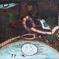 """Михейкина И.П.""""Натюрморт с яйцом"""". 2008, 22,5х29, медь,эмаль."""