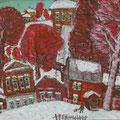"""Тимошкина Д.В. """"Первый снег."""" 2007. Х.,м. 70х90"""
