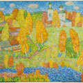 "Красулина С.В.Картина Юкина после реставрации.""Осенний пейзаж""."