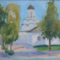 """Кувина Е.В. """"Улица Княгининская"""". 2010г. х-м. 55-65."""