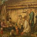 """Целебровский П.И. """"Жанровая композиция"""". Х.,м. 44х64. МИХМ"""