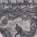 Рыбаков В.Г. Мост. б. офорт, 1972