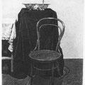 "Кочешков М.А. ""Натюрморт со стулом"". 1994. офорт. 20,5х16,5"