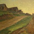 """Серов В.В.""""Село Панфилово"""". 1946. Х.,м. 60х74. МИХМ"""