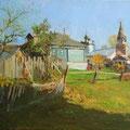 """Марков В.Р. """"Осень в деревне"""" х.м. 35х50"""