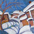 """Бахвалов С.М. """"Зимой"""". 2010 холст,масло 50х70"""