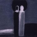 Дик П.Г. .Двое 1998 пастель, уголь 42х49