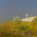 """Изотов М.Н. """"Осеннее утро. Детинец."""" 2008. Холст, масло 100х175 ИРРИ, Москва."""