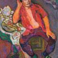 """Бахвалов С.М. """"Портрет художника Такташова И.Н."""" 2008 холст,масло 90х104"""