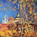 """Юргин А.Б. """"Осенний фейерверк"""". Х.м 50*90"""