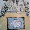 """Михейкина И.П. """"Пасхальный натюрморт"""". 2008, 22,5х18, медь, эмаль."""