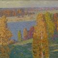 Телегин В.П  Осень на Клязьме. 2001. х.м. 70х100