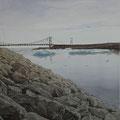 """Белан М.В. """"Мост"""". (бум., акв., гуашь, 50х36. 2010г.)"""