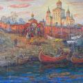 """Смирнов В.И. """"Вотчина Андрея Боголюбского"""".2008 х.м. 92х121"""