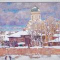 "Егоров В.С. мрг ""Зимний пейзаж ."" 1997г. х.м. 80х60"