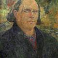 """Лёвин М.К. """"Автопортрет"""". 1981. Холст, масло. 80х78. МИХМ"""