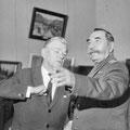 На персональной выставке с С.М. Буденным. 1965 г.