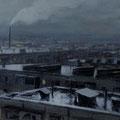 всхр Платонов С.В. Город в сумерках. 2006 холст масло 40х120.jpg